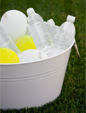 Fill balloons with water and freeze to keep drinks cold on summer days!