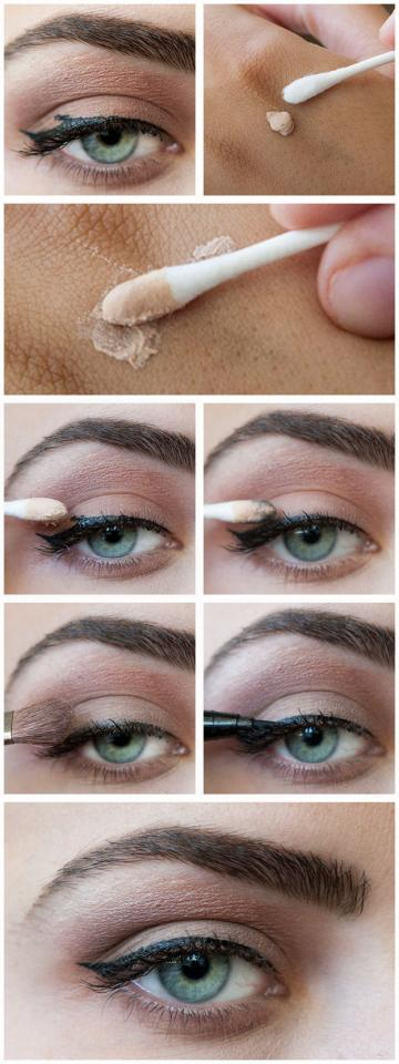 7. A dab of primer or concealer can work wonders for fixing smudges.