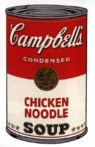 chicken noodle soup  #Warhol  what u know bout dat???