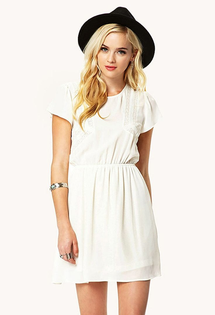 A casual white dress