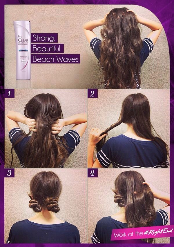 This time, the twisting technique is used again, but instead of clipping it to your head, wrap it around itself into a couple of tight buns! Not too tight though, or you may get a headache, and make sure they will be comfortable to sleep on!