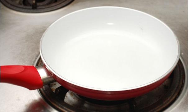 Heat your pan on medium heat.