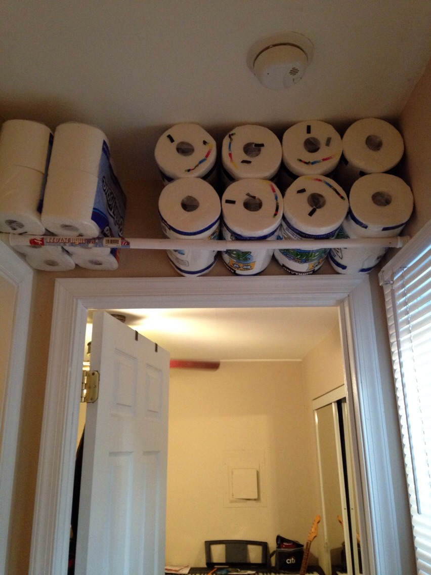 Use Tension Rods In Hallways Or Smaller Rooms Closets To Create Shelf E
