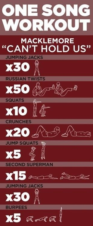 A workout that only last duration of one song complete this 3 times a week! And see difference