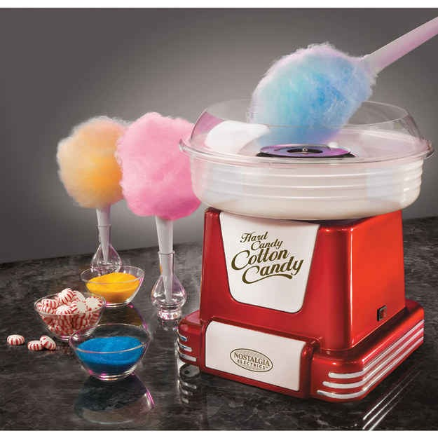 Personal cotton candy maker! Great for outdoor/lawn games with friends. Can even be used to make sugar free cotton candy! Available at hammacher.com for 49.95