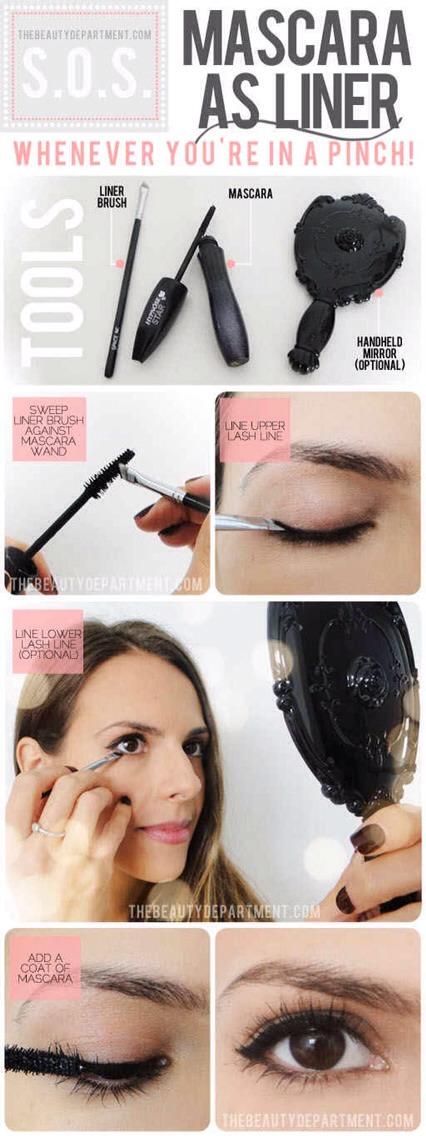 Use mascara as eyeliner.