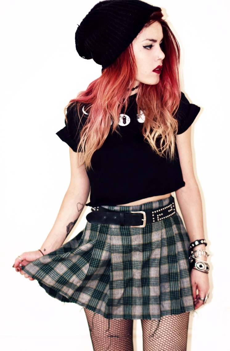 Never say no to the plaid skirt.