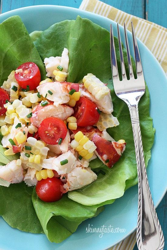 8. Chilled Lobster Salad with Sweet Summer Corn and Tomatoes