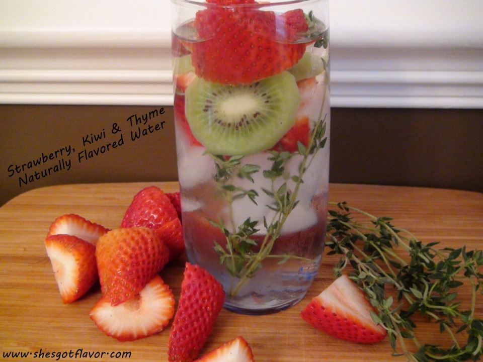 Strawberry and kiwi ( thyme is optional )