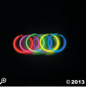 31. Glow in the Dark Bracelets Instead of Candy  Not only are they a non-candy alternative that's fun for trick or treaters, but the bracelets will keep kids safely visible while walking around in the dark.
