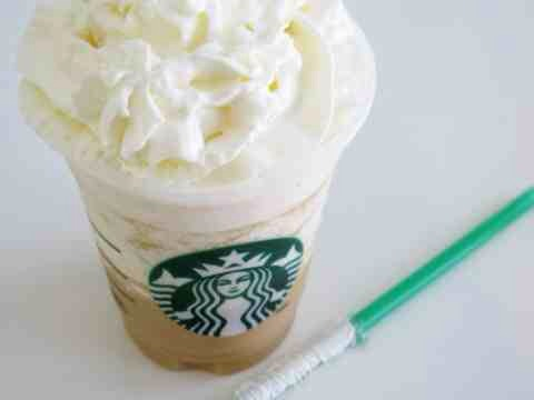 STEP THREE: Pour Frapp in a cup. Use an authentic Starbucks cup to fool your friends. Sneaky, I know.