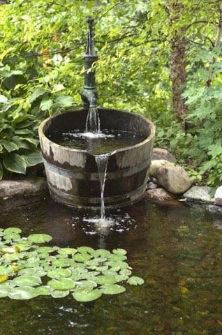 Make a little fountain for a small pond