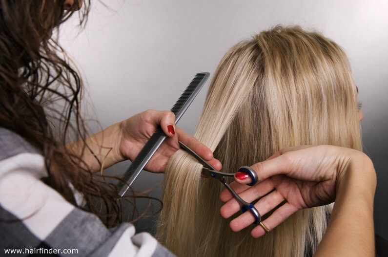 You should find a really good hair stylist, who knows how to properly cut your specific hair type. A good hair stylist will charge $20-30 for the cut. Don't be afraid to spend a little more, you'll definitely see the results of a good hair cut in the near future.