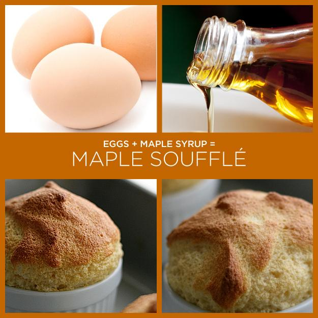 26. Eggs + Maple Syrup = Maple Soufflé