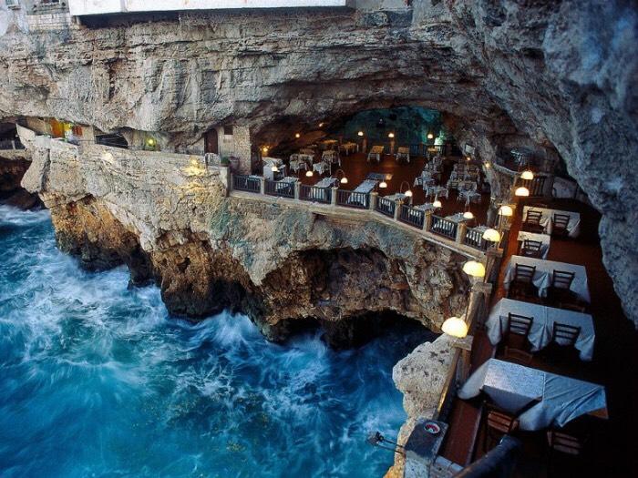 Ristorante Grotta Palazzese in Puglia, Italy