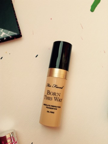 And the Too Faced Born This Way foundation sample.