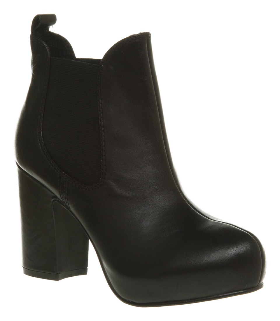 a good pair of boots with a bit of a heel. these are a winter must have!