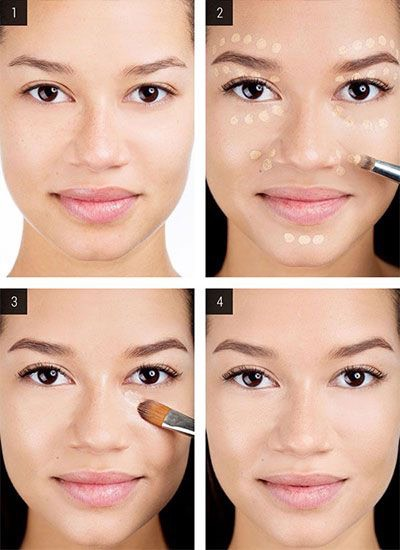 3. But concealer shouldn't only be applied under the eyes! Follow this map to see where else you should conceal: