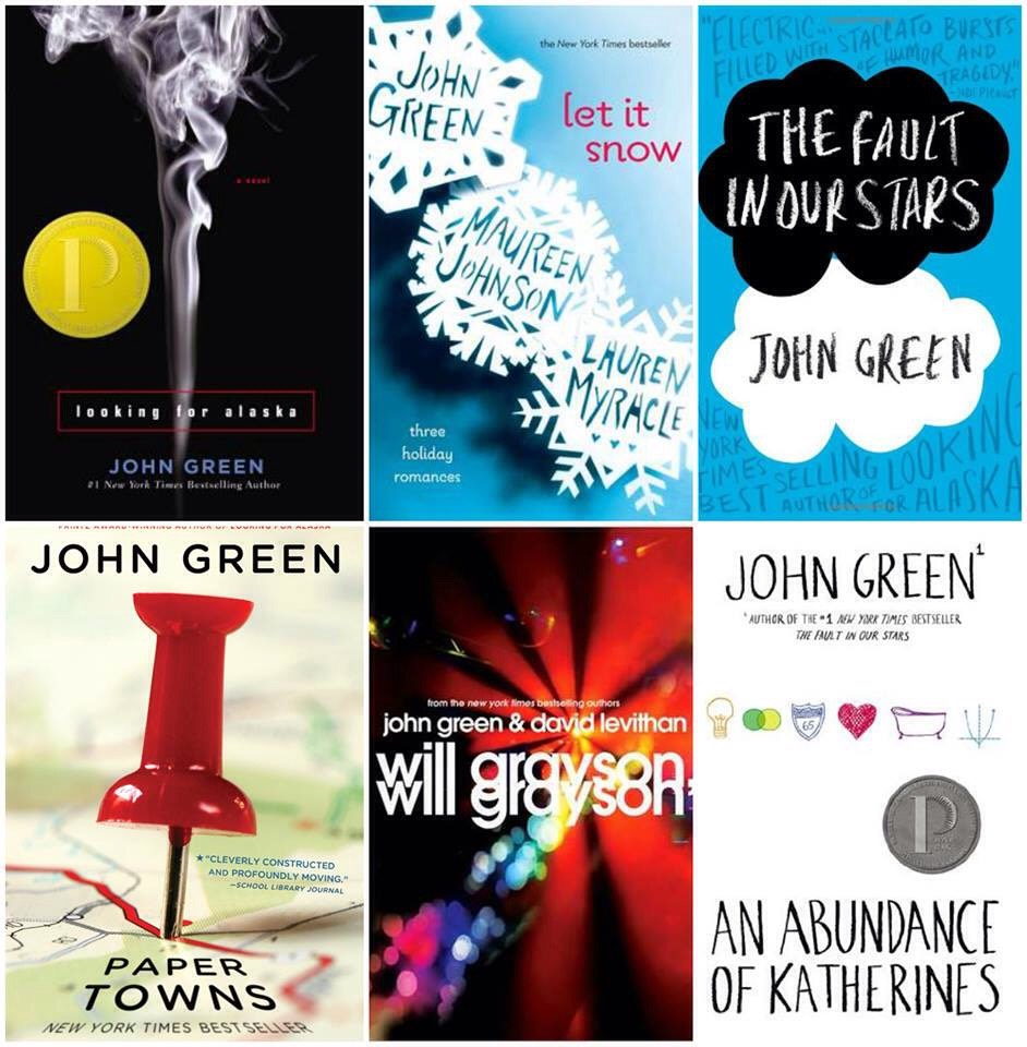 John Green books. YES! Recommended age, 14+