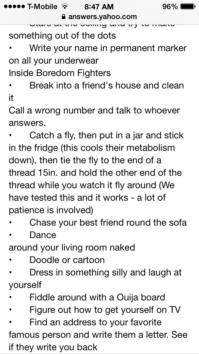 Things to do indoors when your bored
