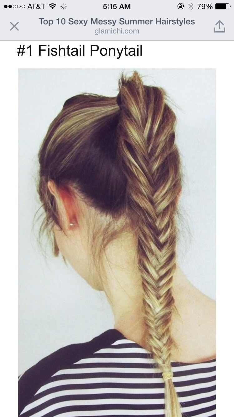 Fishtail ponytail 💪🏻