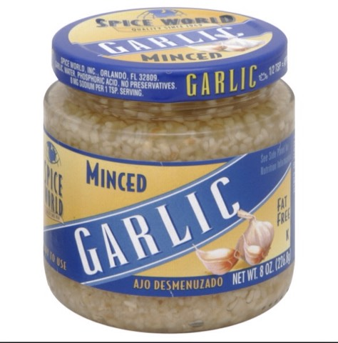 You can buy pre minced garlic to make it easier or you can buy fresh garlic and  Mince it yourself.( either one works just as well)