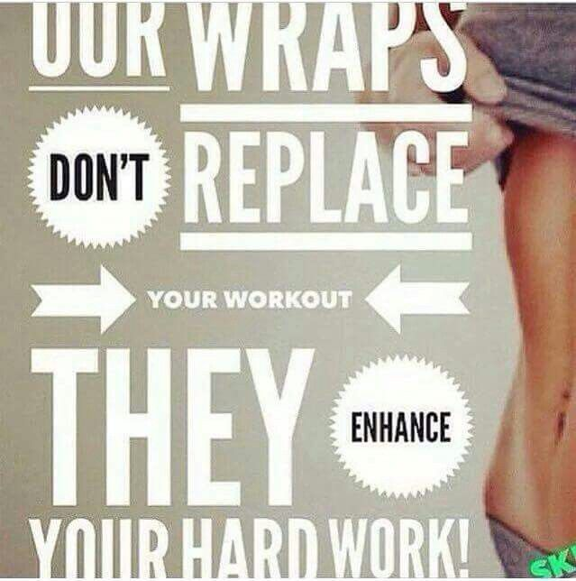 Do NOT forget that these wraps won't replace working out or any form of exercise! They enhance your results! Results of the wrap can last from 2-6 mos., however, just like exercise, they require MAINTENANCE! Don't expect to go straight back to bad eating habits and keep the results you have.