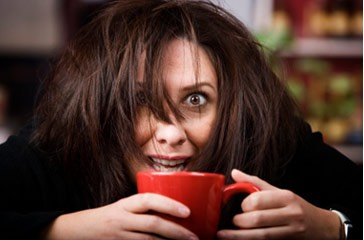 Stay away from caffeine as much as possible. This increases hair loss, and can actually make you more tired after the effect wears off.