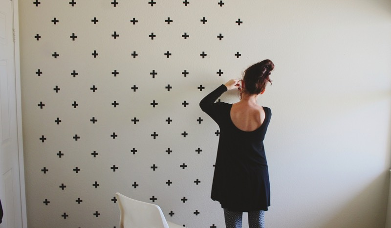 This one just uses washi tape so you won't wreck the walls!