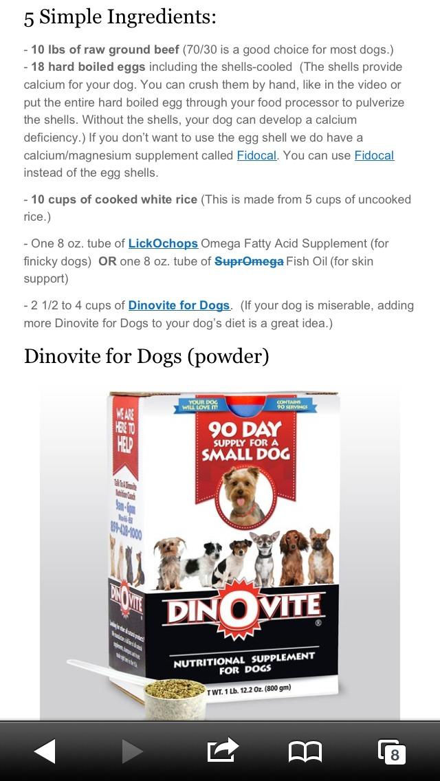 http://www.dinovite.com/blog/2012/07/homemade-dog-food-recipe-making -a-simple-raw-dog-food/