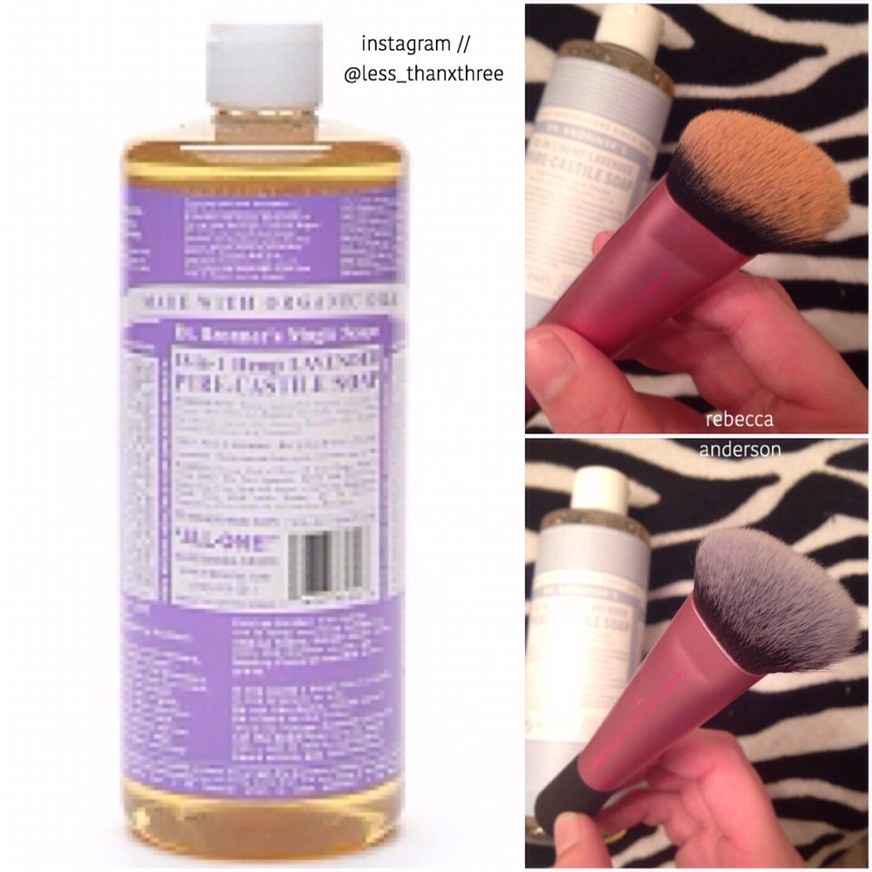 I found this because someone recommended it for my makeup brushes (the above before and after is mine) and I loved it so much. so I looked it up and you can seriously use it for anything. From shaving to laundry to cleaning your dishes!