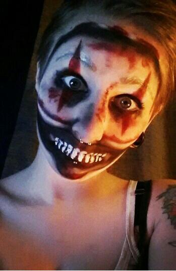 Twisty the Clown makeup from American Horror Story: Freak Show #halloween #halloweentip #makeup #halloweenmakeup