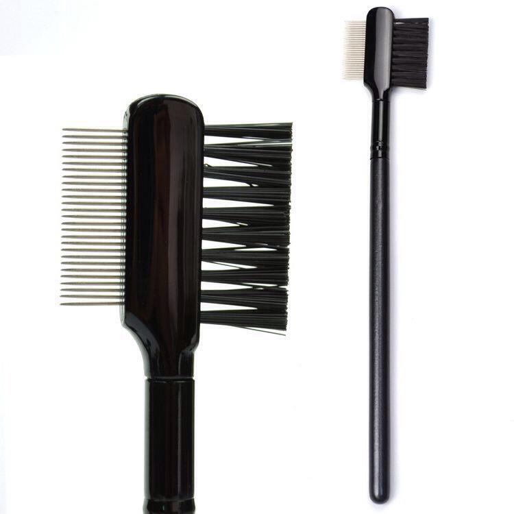 Rub your favorite mascara on the eyelash part of the brush and comb through your eyelashes