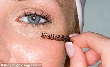 Then you need to take your eyelashes hold them up to your lash line and cut them down to the size that suits you.  It's good to cut off a bit extra as well to make them look more natural starting into the middle a small bit more.
