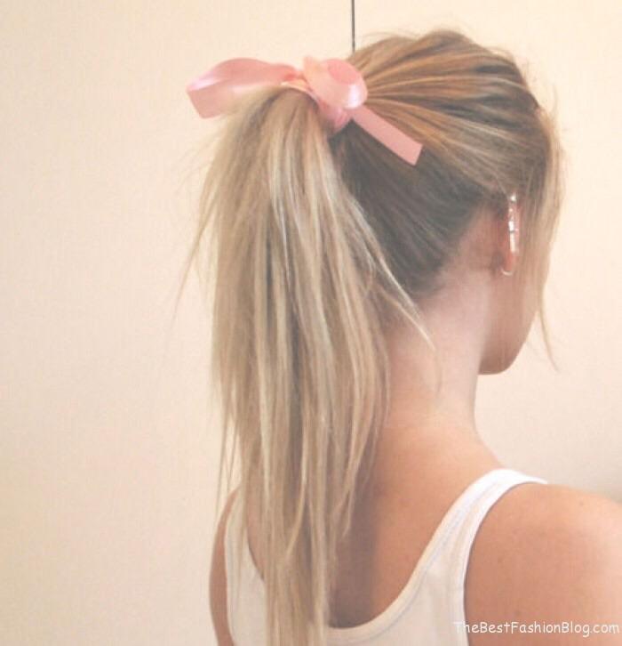 Never sleep with your hair tied back! The elastics create split ends!