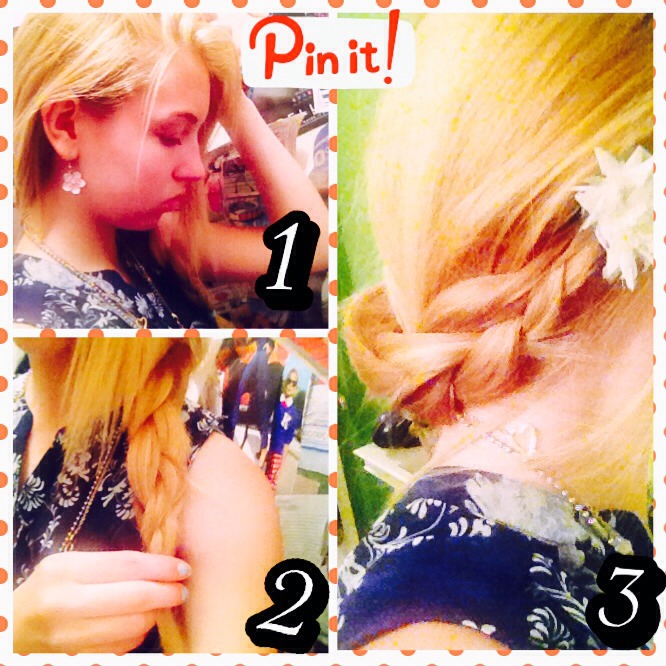 This hairstyle is super cute and easy to do! Before the tutorial I made a summarized version above so you can snapshot it! Enjoy! 🌺🌸🌺