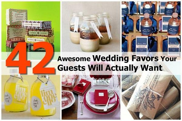http://www.goodshomedesign.com/42-fun-and-useful-wedding-favors/