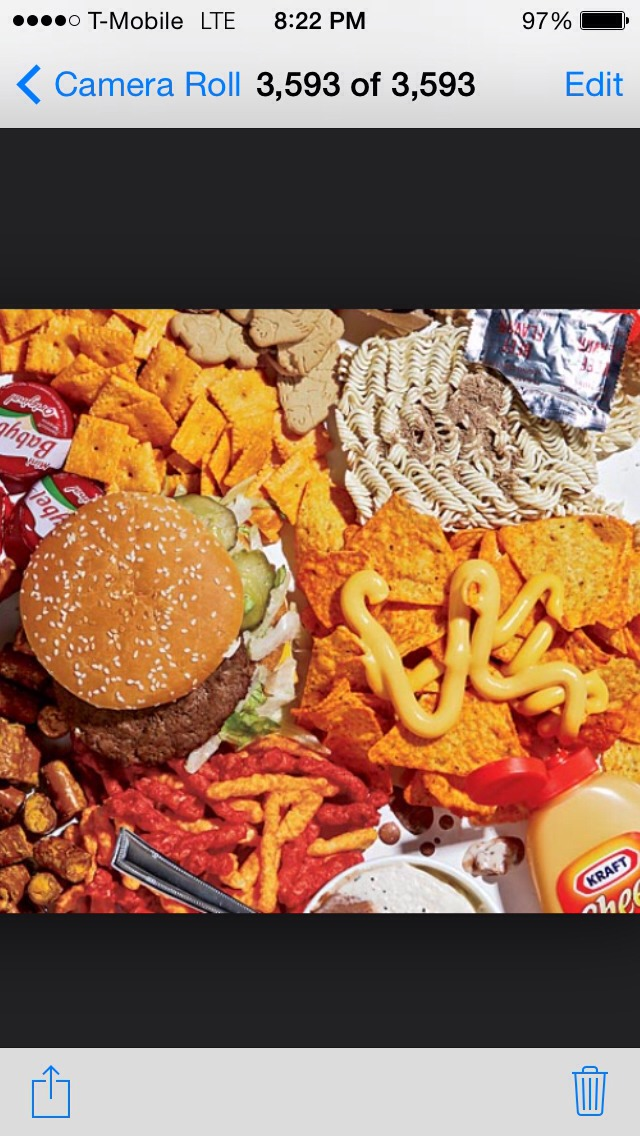 Step Two: Avoid junk food!  Sodium is one of the main causes for bloating, and junk food usually contains a huge, unhealthy amount. Along with avoiding junk food, try to limit the amount of salt you use as flavoring for your food.