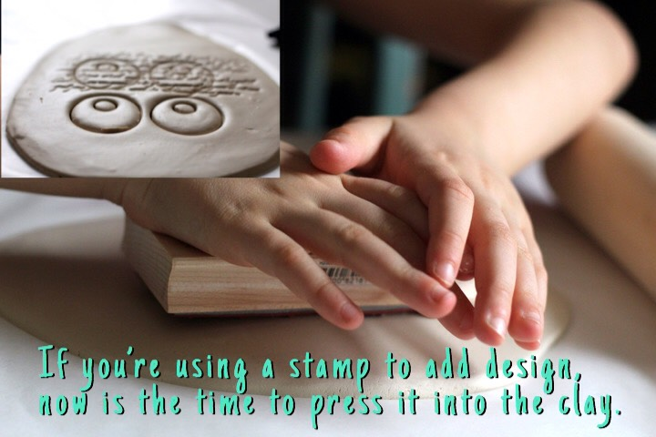 Peel away the clay from your pendant and allow it to dry for 1-2 days.