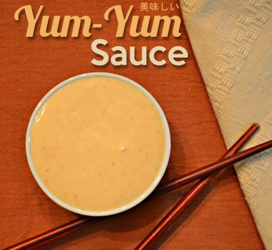 often served at hibachi and sushi restaurants, this delicious sauce makes rice and sashimi taste amazing!!