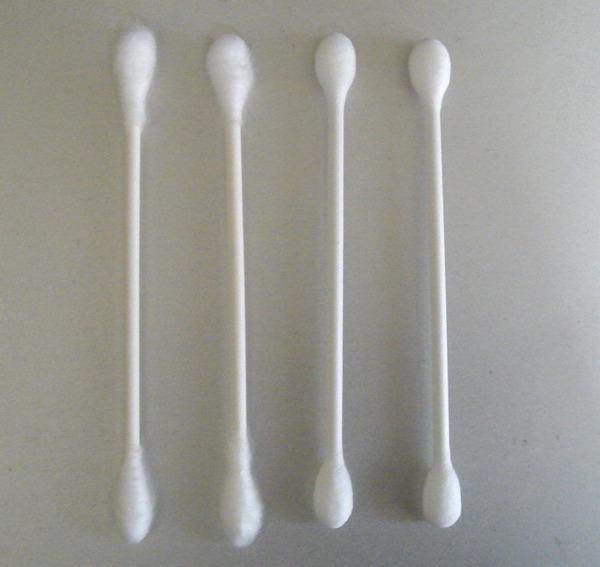 A Q-tip or cotton ball.