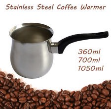 What you need: milk warmer pot( get the one with plastic arm like this one, its easy to pour coffee from it later!