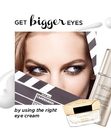 You want to know how to make your eyes look bigger, you need to start by applying eye cream. This will help smooth, de-puff and prep your skin for a flawless concealer application (just imagine applying foundation without first applying moisturizer -- the result just isn't as flawless).