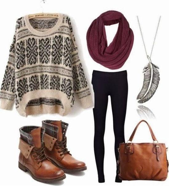 11. Cozy Sweater Winter Outfit Idea