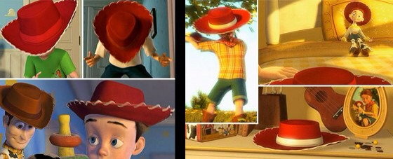 Okay seriously 10 years of watching it and I've only just found out that Emily, Jessie's owner is Andy's mom. The cow boy/girl hat  can be used as a suggestion.