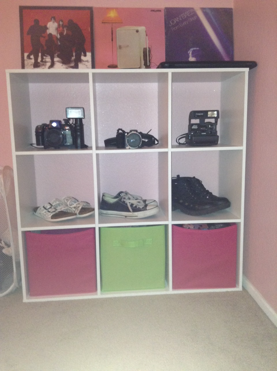 Line up some of your favorite or most worn shoes and some boxes for storage.