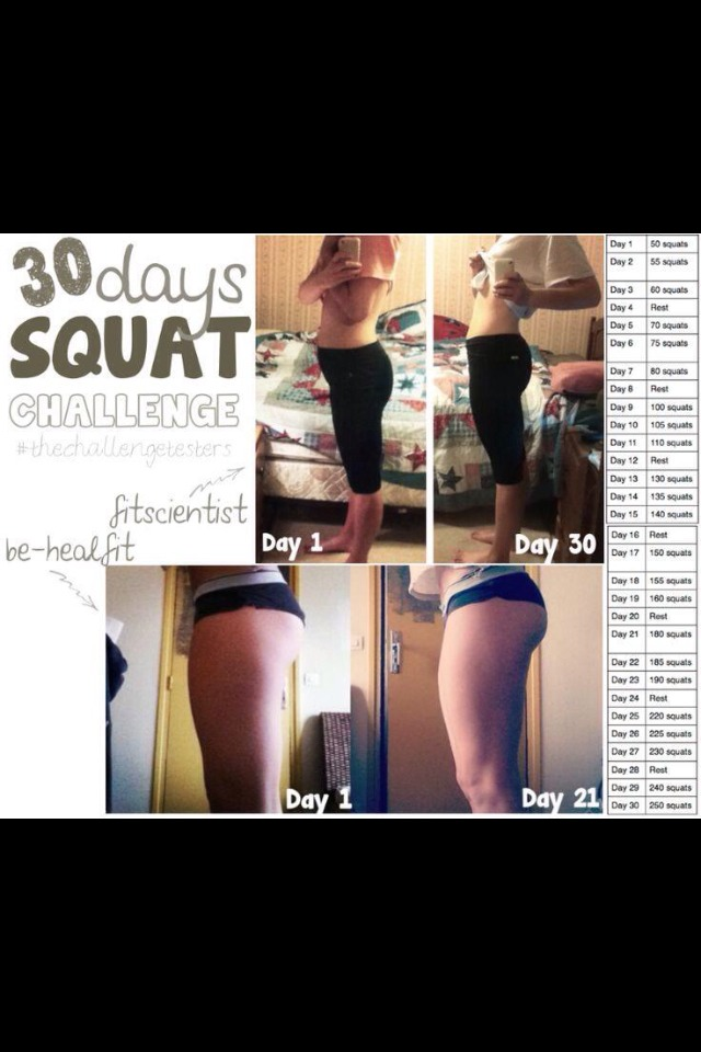 Thirty day squat challenge!! Guaranteed for a nice bum!