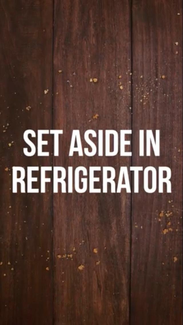 Put into fridge
