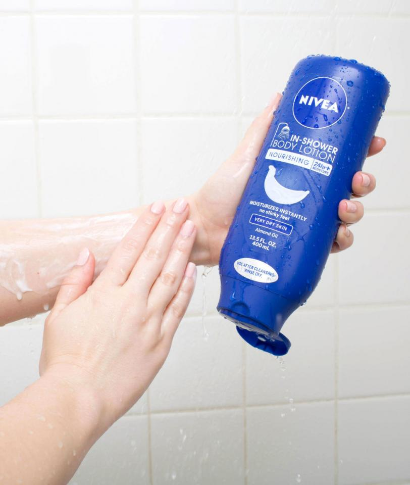 10. Pack an in-shower body loton in your gym bag so you can save time after your work out by moisturizing while you shower. Just wash your body as normal, then follow up with the in-shower body lotion and rinse.