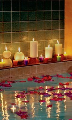 Add candles for more relaxation. 😘 please like and share for more DIY tips